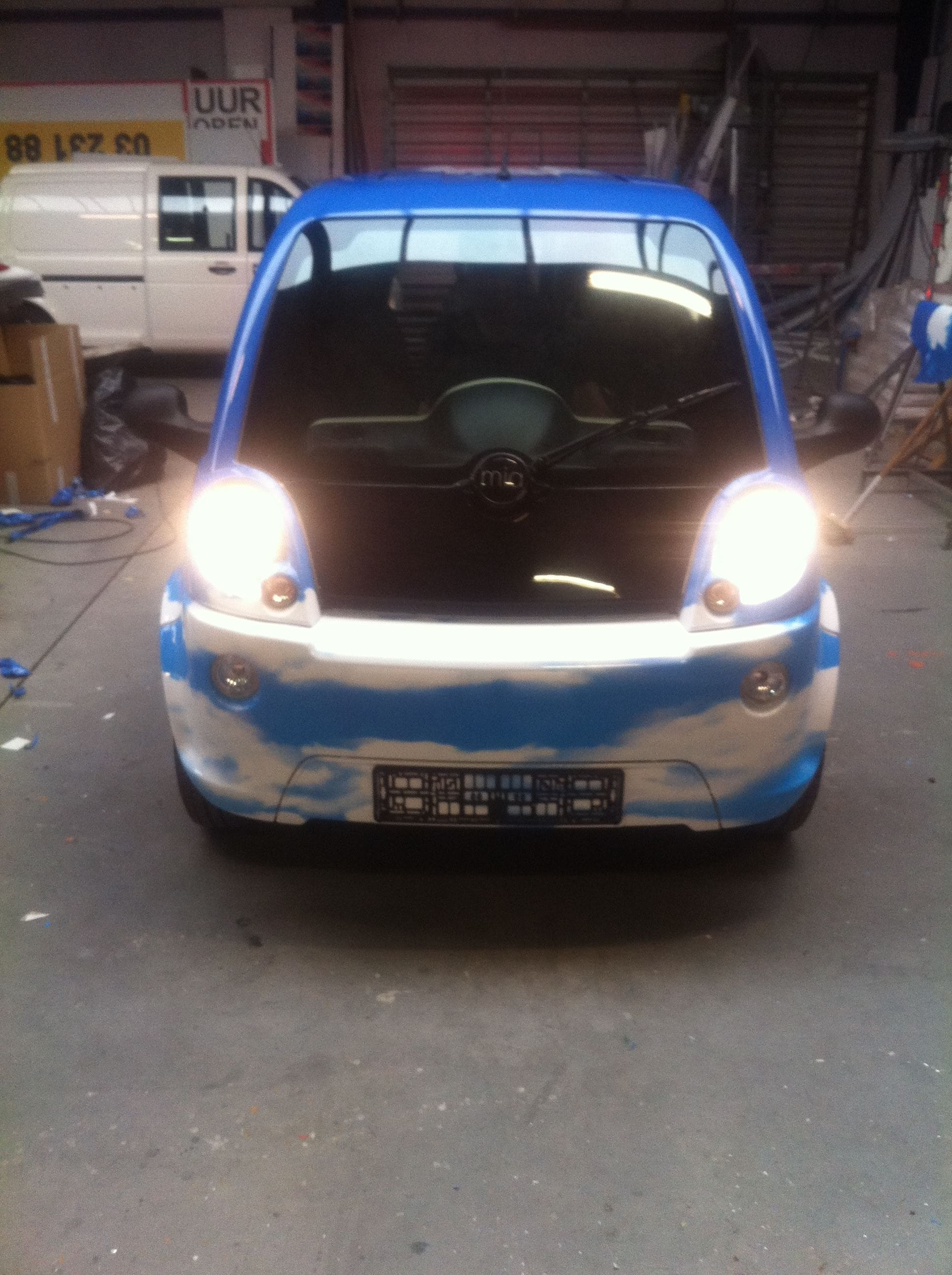 Mia Electrowagen met Full Color Wrap, Carwrapping door Wrapmyride.nu Foto-nr:6366, ©2021