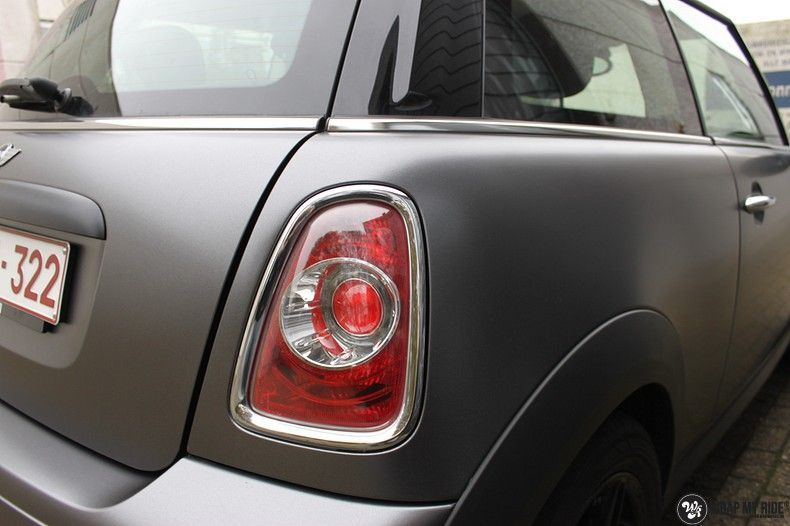 mini cooper one satin dark grey, Carwrapping door Wrapmyride.nu Foto-nr:10445, ©2021