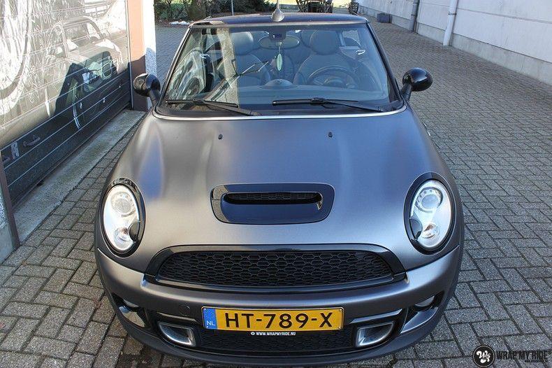 mini cooper s cabrio satin dark grey, Carwrapping door Wrapmyride.nu Foto-nr:10842, ©2020