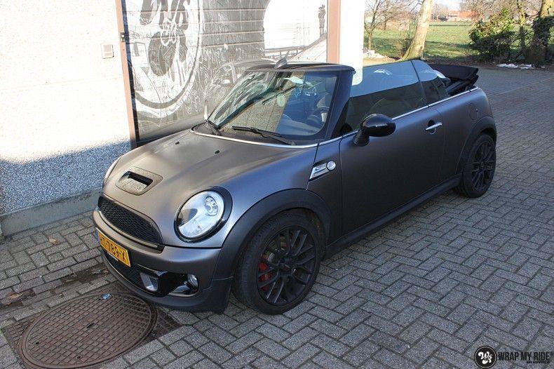 mini cooper s cabrio satin dark grey, Carwrapping door Wrapmyride.nu Foto-nr:10843, ©2020