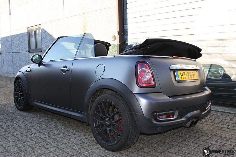mini cooper s cabrio satin dark grey, Carwrapping door Wrapmyride.nu Foto-nr:10844, ©2020