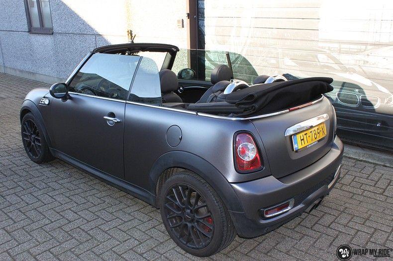 mini cooper s cabrio satin dark grey, Carwrapping door Wrapmyride.nu Foto-nr:10849, ©2020