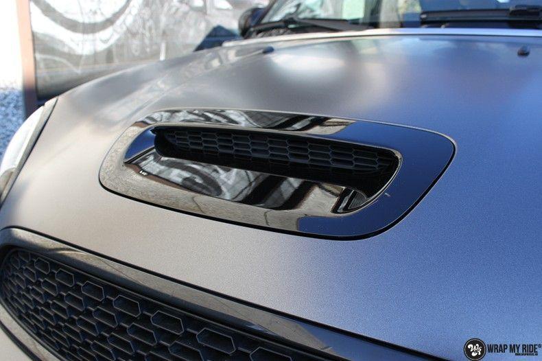 Mini cooper S cabrio Satin Dark Grey, Carwrapping door Wrapmyride.nu Foto-nr:10702, ©2019