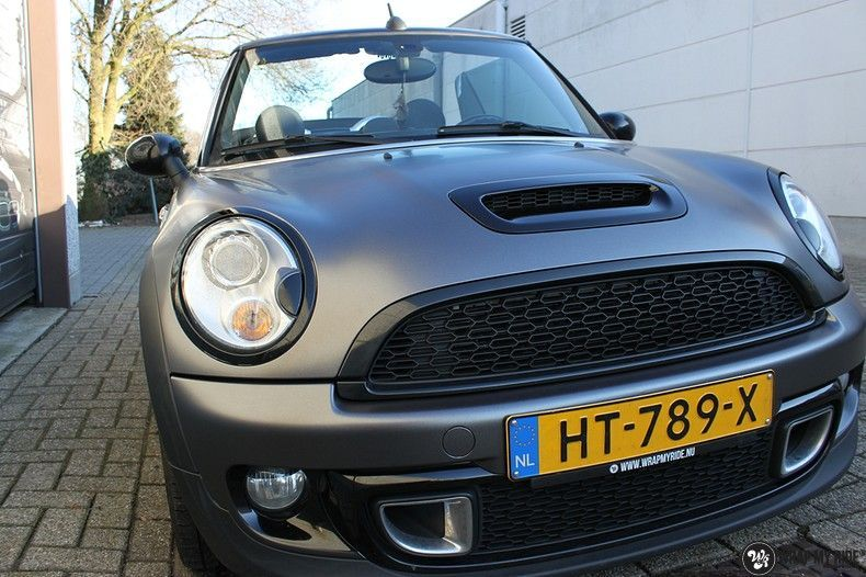 Mini cooper S cabrio Satin Dark Grey, Carwrapping door Wrapmyride.nu Foto-nr:10701, ©2020