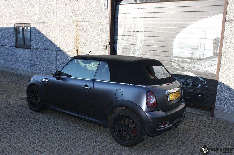 mini cooper s cabrio satin dark grey, Carwrapping door Wrapmyride.nu Foto-nr:10854, ©2020