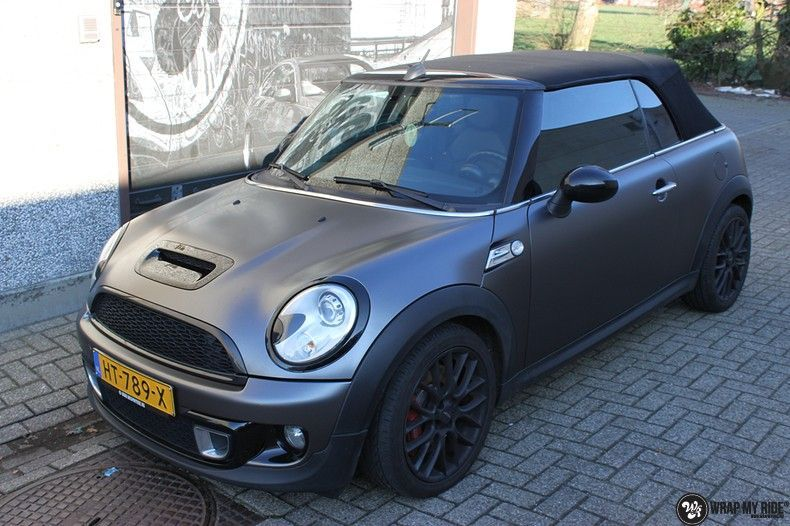 Mini cooper S cabrio Satin Dark Grey, Carwrapping door Wrapmyride.nu Foto-nr:10699, ©2020