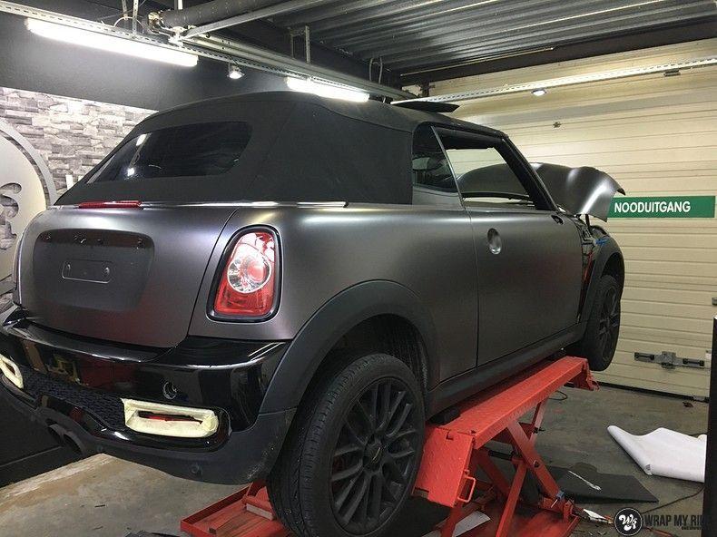 Mini cooper S cabrio Satin Dark Grey, Carwrapping door Wrapmyride.nu Foto-nr:10717, ©2019