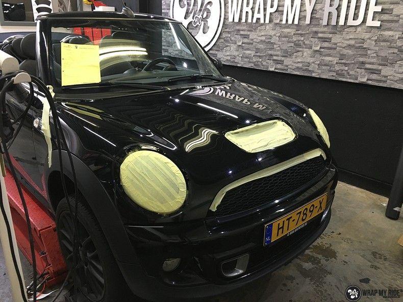 Mini cooper S cabrio Satin Dark Grey, Carwrapping door Wrapmyride.nu Foto-nr:10719, ©2019