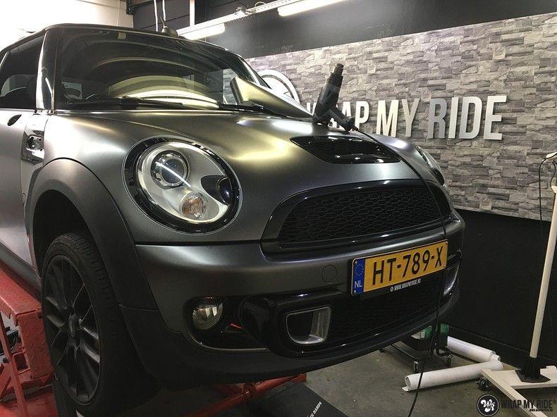 mini cooper s cabrio satin dark grey, Carwrapping door Wrapmyride.nu Foto-nr:10860, ©2020