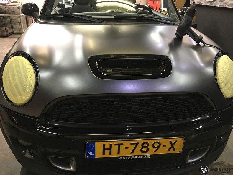 mini cooper s cabrio satin dark grey, Carwrapping door Wrapmyride.nu Foto-nr:10861, ©2020
