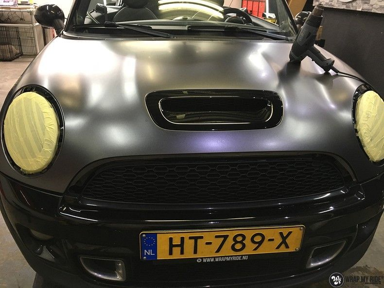 Mini cooper S cabrio Satin Dark Grey, Carwrapping door Wrapmyride.nu Foto-nr:10718, ©2019