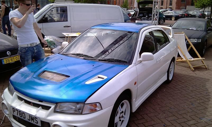 Mitsubishi Evolution 4 Wrap, Carwrapping door Wrapmyride.nu Foto-nr:6434, ©2020