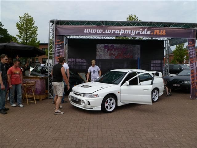 Mitsubishi Evolution 4 Wrap, Carwrapping door Wrapmyride.nu Foto-nr:6435, ©2020