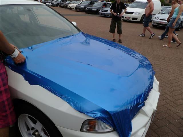 Mitsubishi Evolution 4 Wrap, Carwrapping door Wrapmyride.nu Foto-nr:6436, ©2021