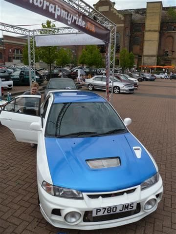 Mitsubishi Evolution 4 Wrap, Carwrapping door Wrapmyride.nu Foto-nr:6437, ©2021