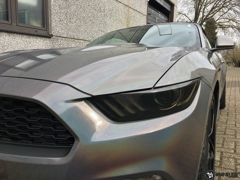 Mustang 2017 3M gloss flip psychedelic, Carwrapping door Wrapmyride.nu Foto-nr:11480, ©2018