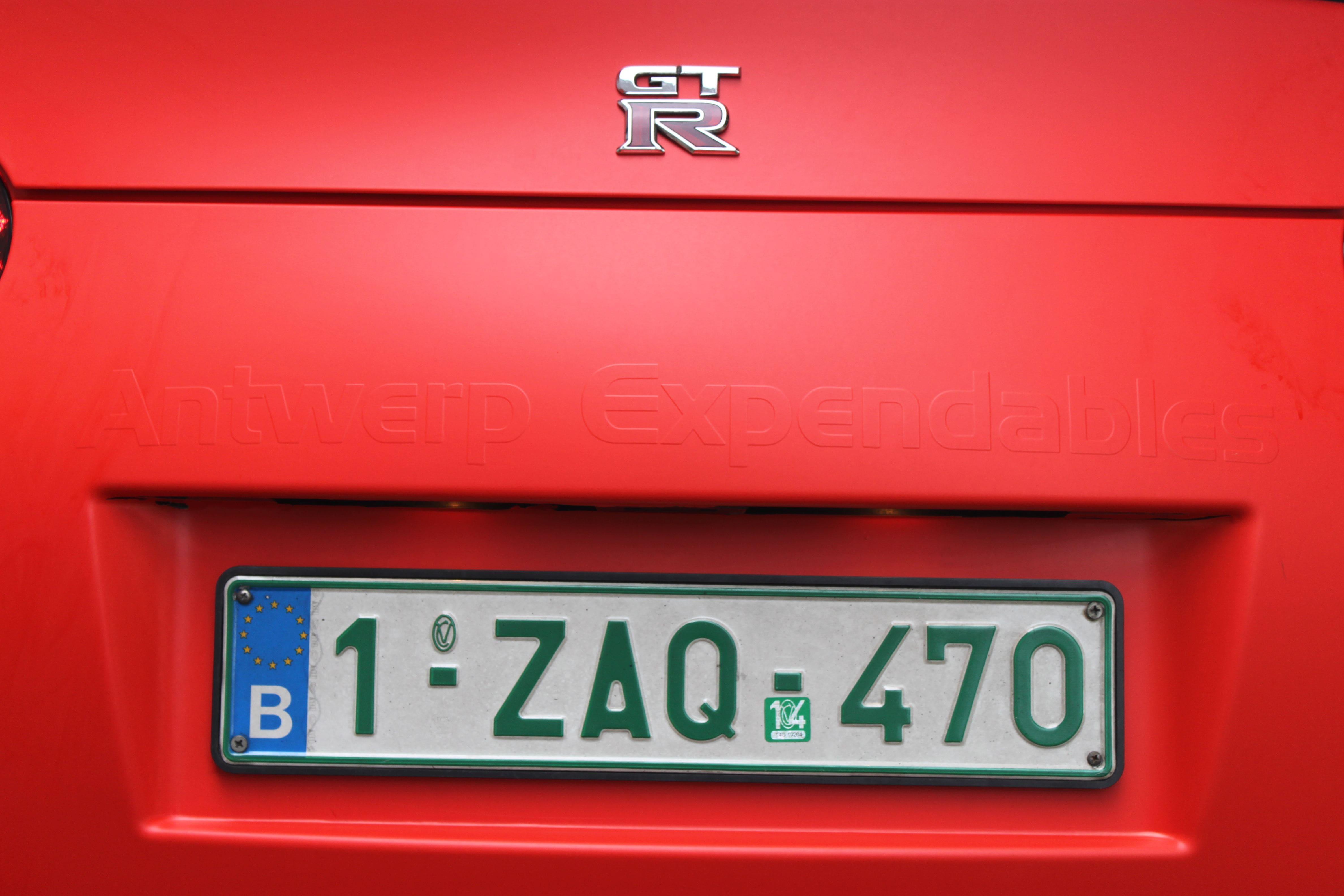 Nissan GT-R in Hotrod Rode Wrap, Carwrapping door Wrapmyride.nu Foto-nr:6506, ©2020