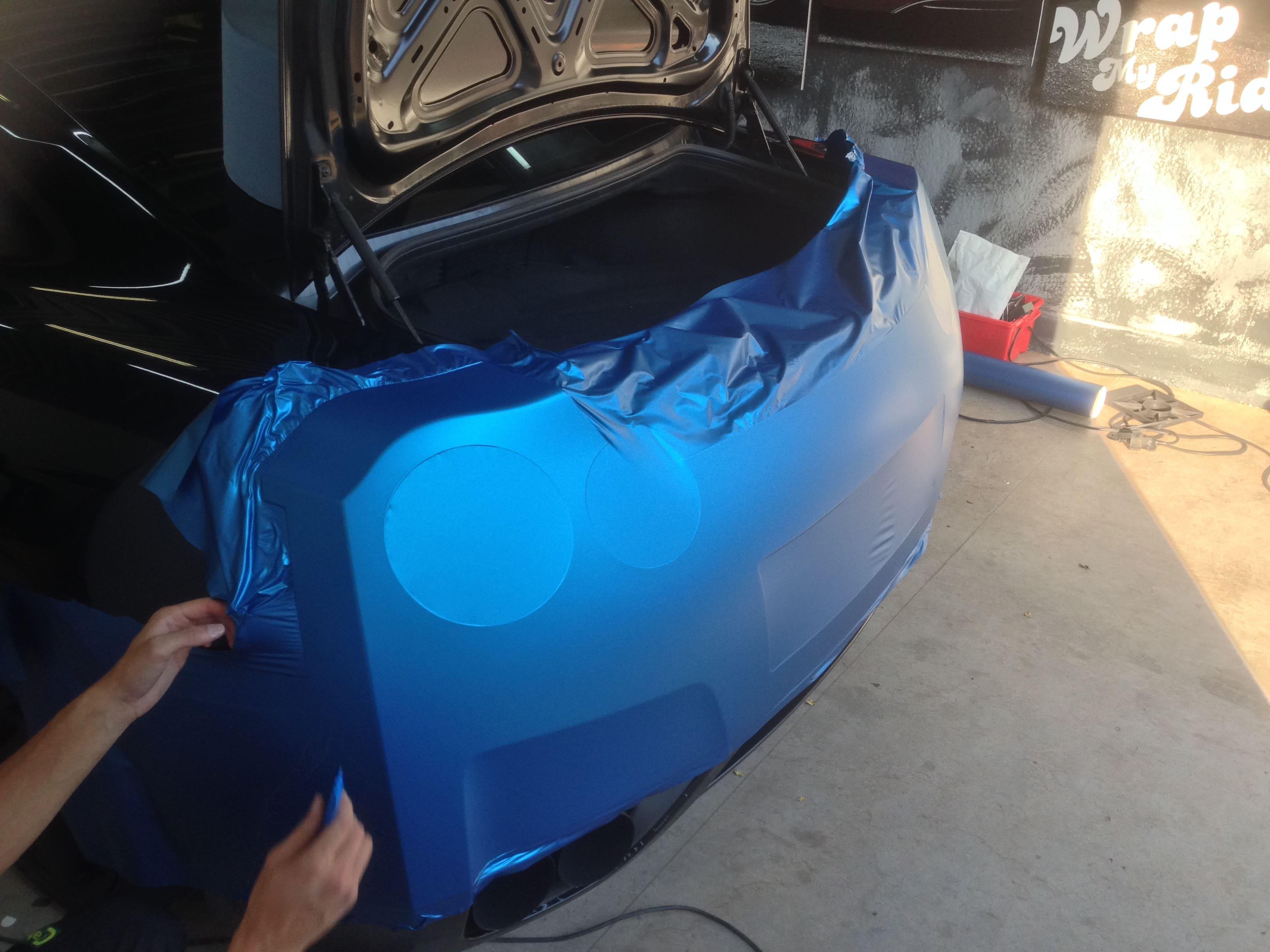 Nissan GT-R in Mat Blauwe Wrap, Carwrapping door Wrapmyride.nu Foto-nr:6516, ©2021