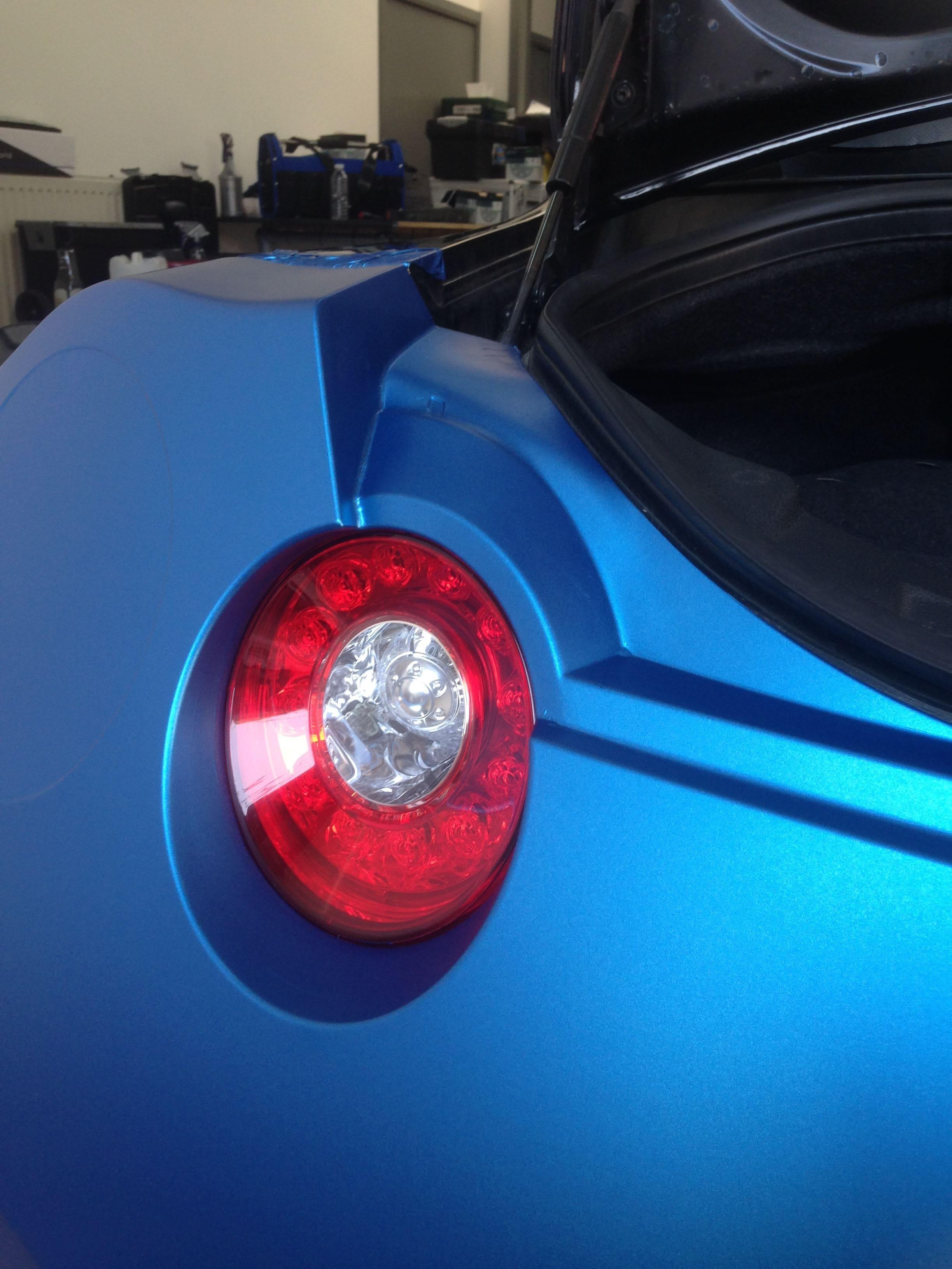 Nissan GT-R in Mat Blauwe Wrap, Carwrapping door Wrapmyride.nu Foto-nr:6518, ©2020
