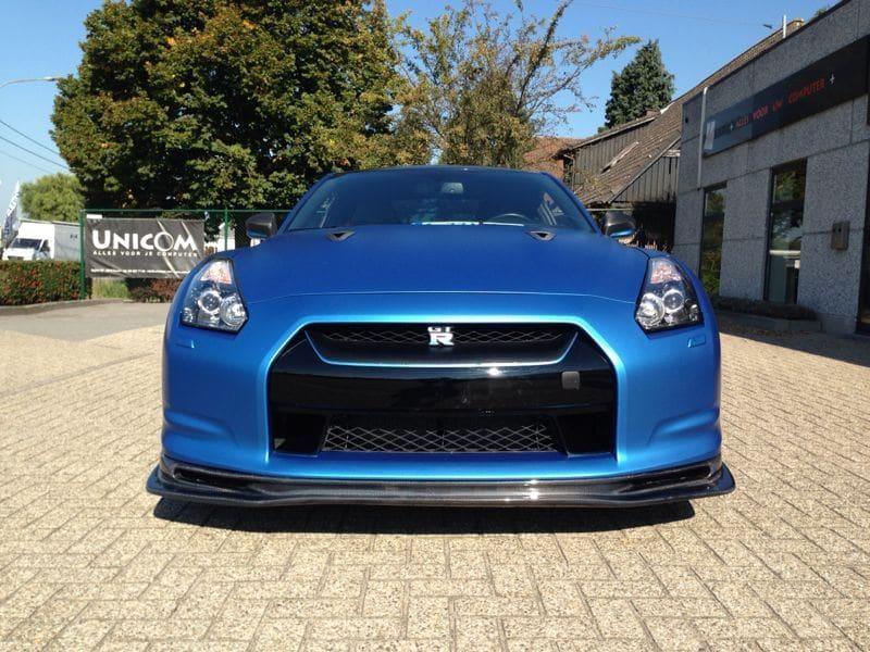 Nissan GT-R in Mat Blauwe Wrap, Carwrapping door Wrapmyride.nu Foto-nr:6530, ©2021