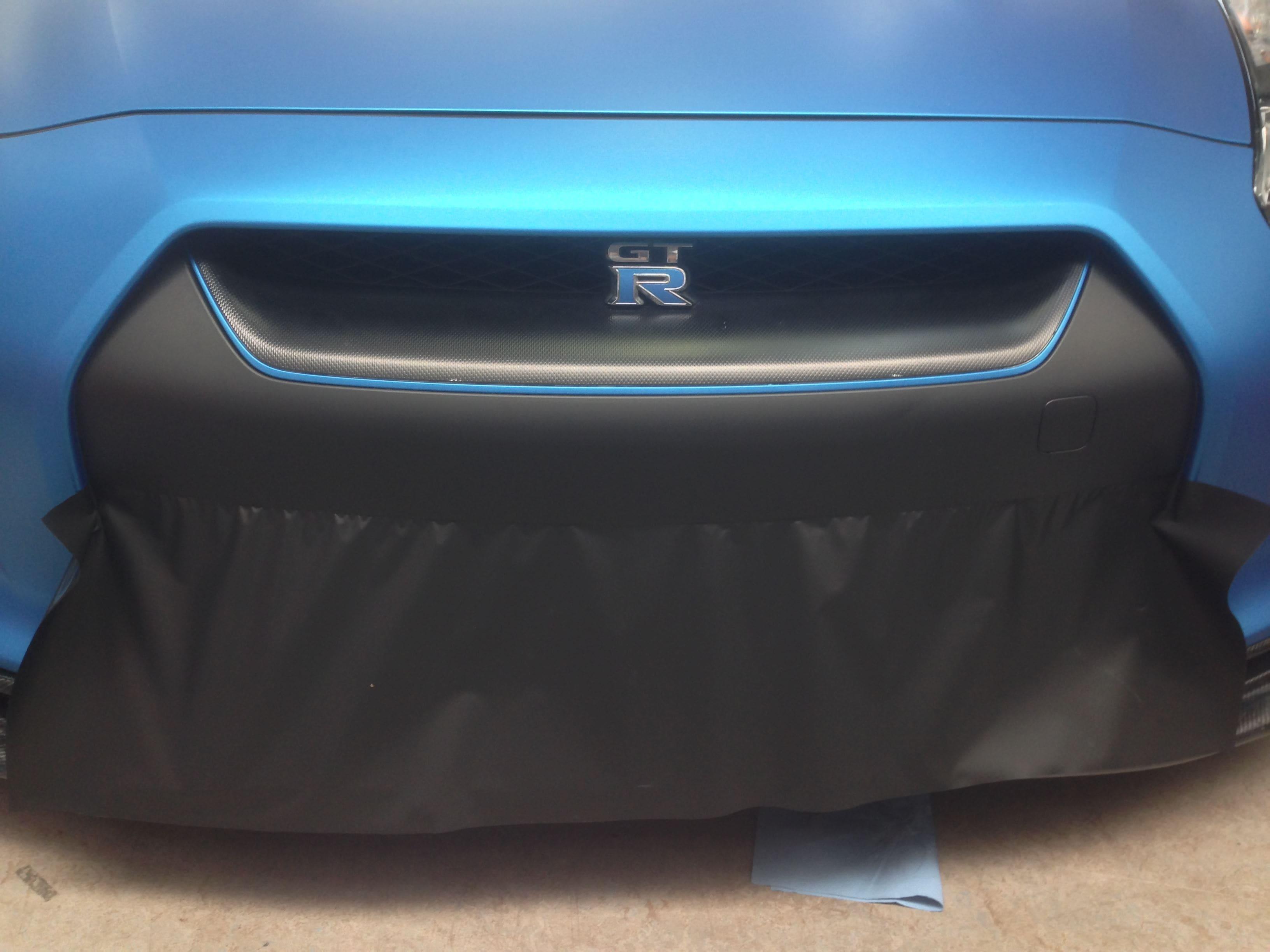 Nissan GT-R in Mat Blauwe Wrap, Carwrapping door Wrapmyride.nu Foto-nr:6532, ©2020