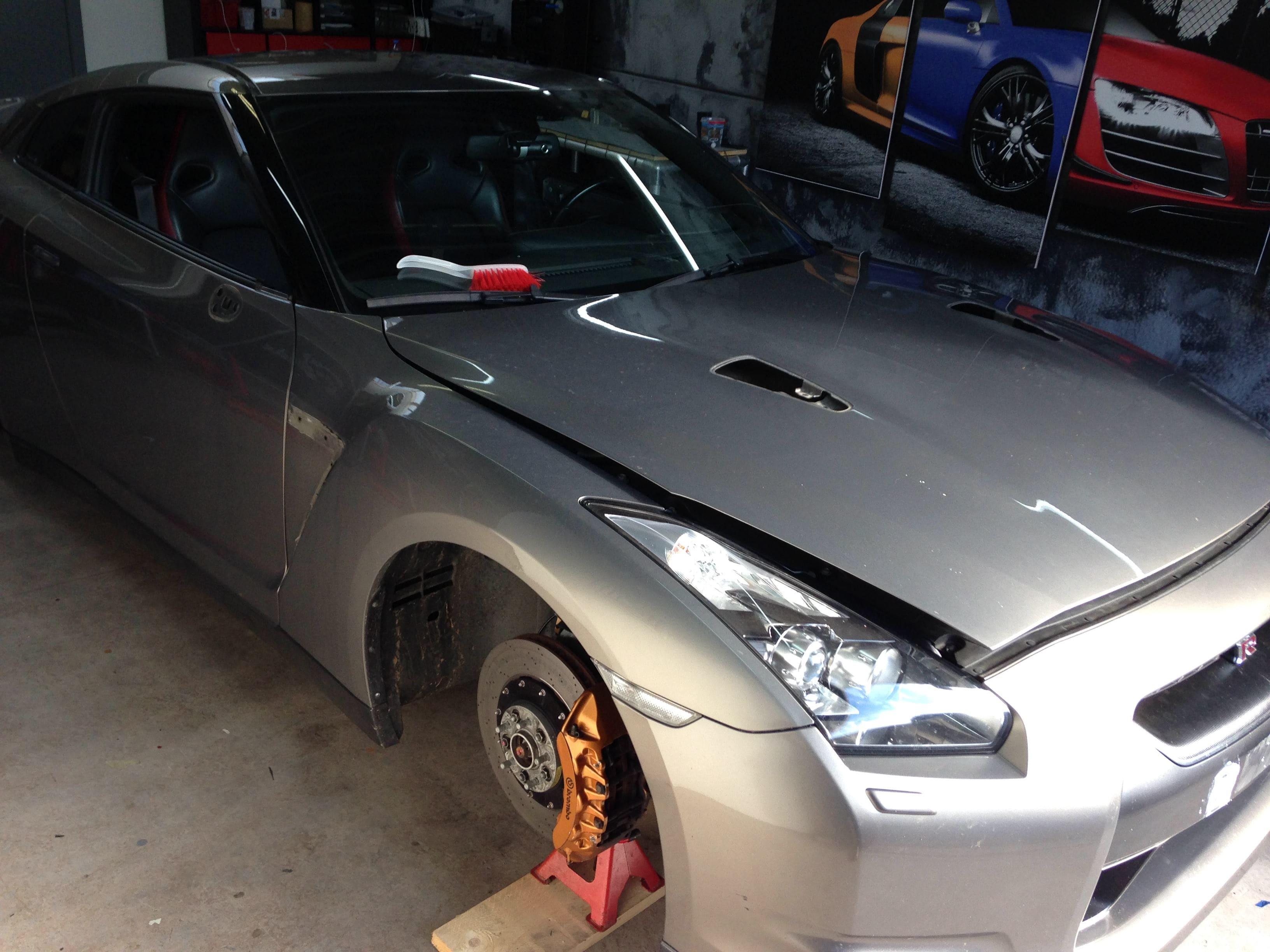 Nissan GT-R met Blue Chrome Wrap, Carwrapping door Wrapmyride.nu Foto-nr:6439, ©2021