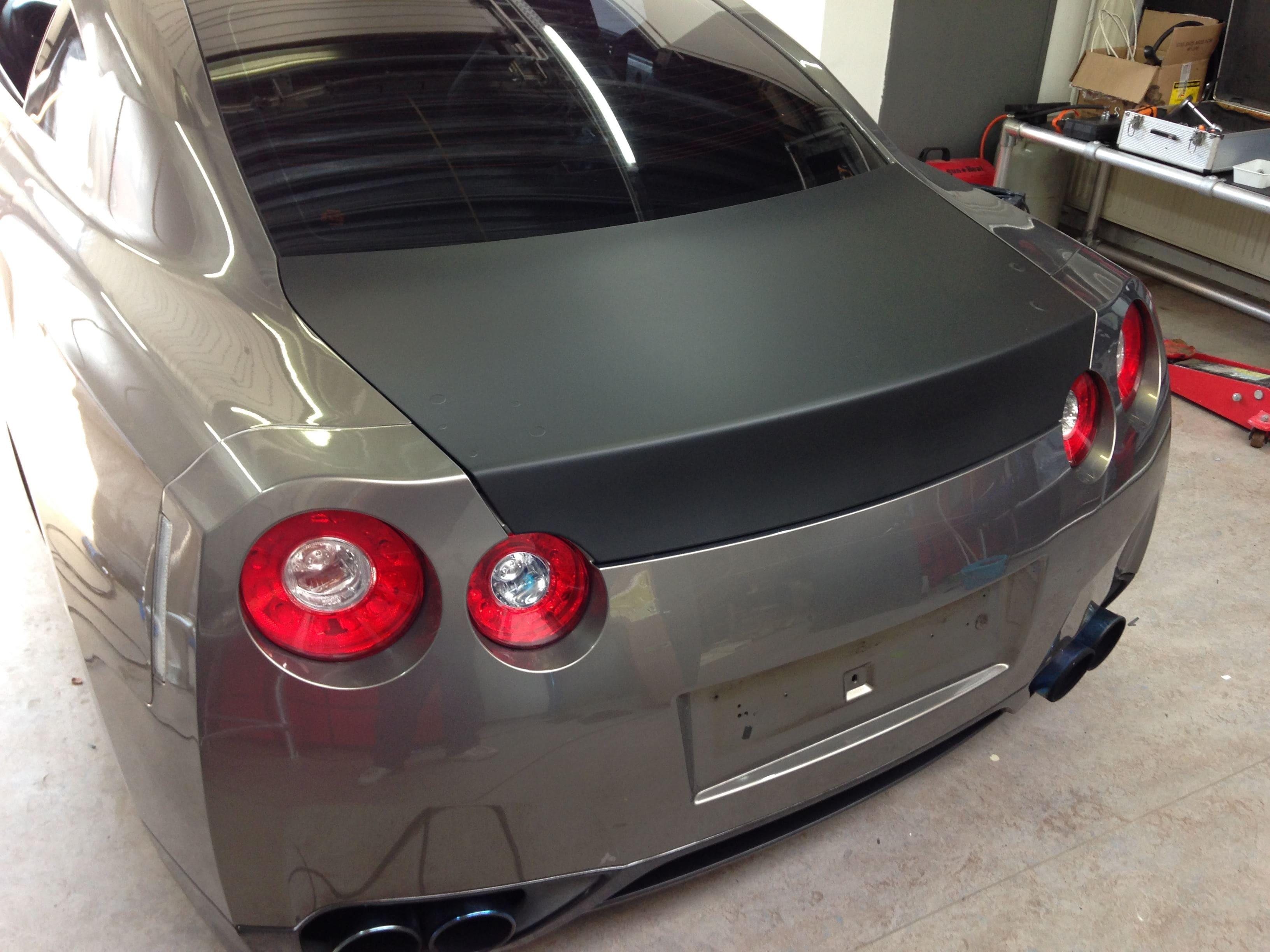 Nissan GT-R met Blue Chrome Wrap, Carwrapping door Wrapmyride.nu Foto-nr:6442, ©2021