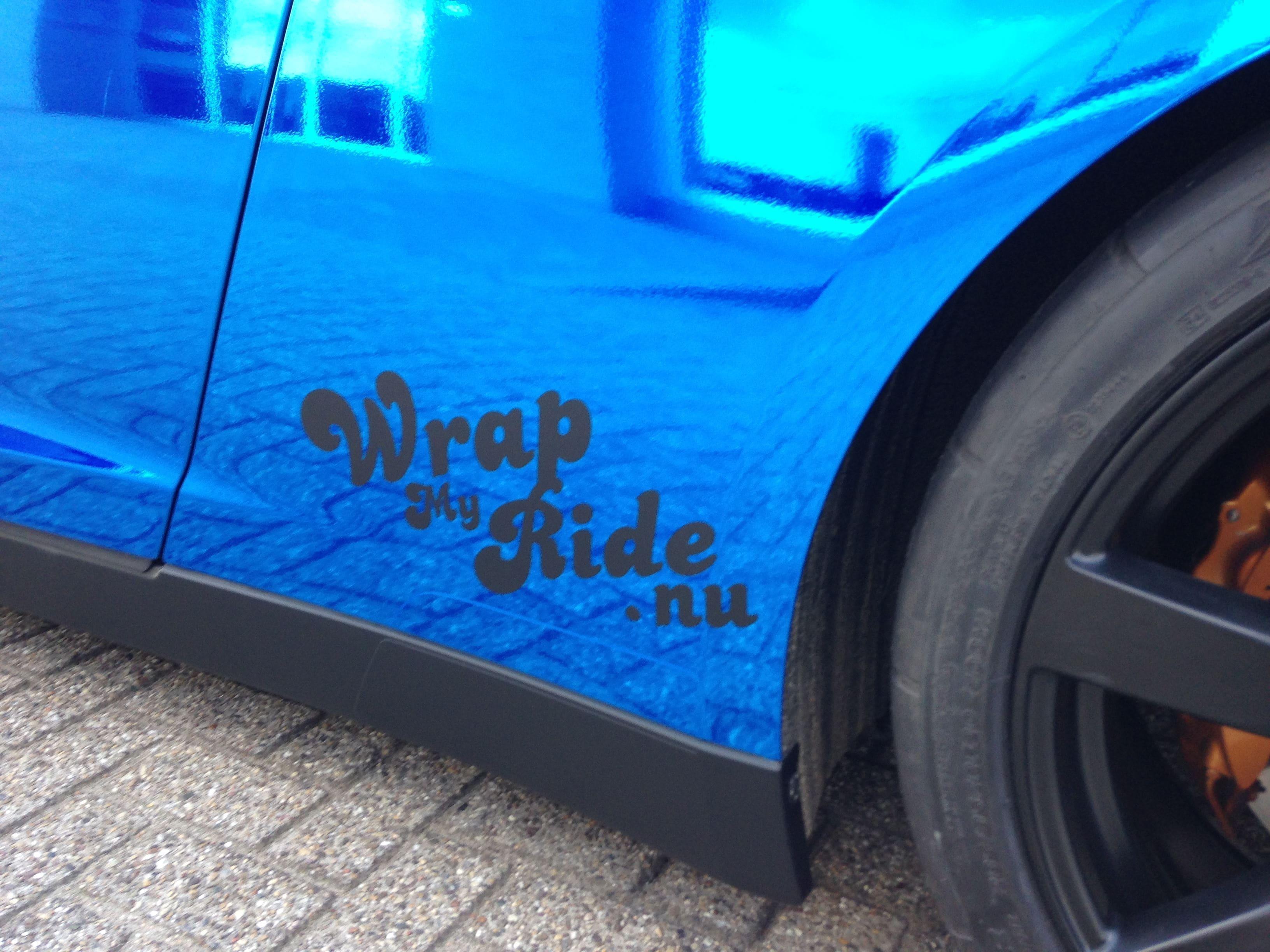 Nissan GT-R met Blue Chrome Wrap, Carwrapping door Wrapmyride.nu Foto-nr:6466, ©2021
