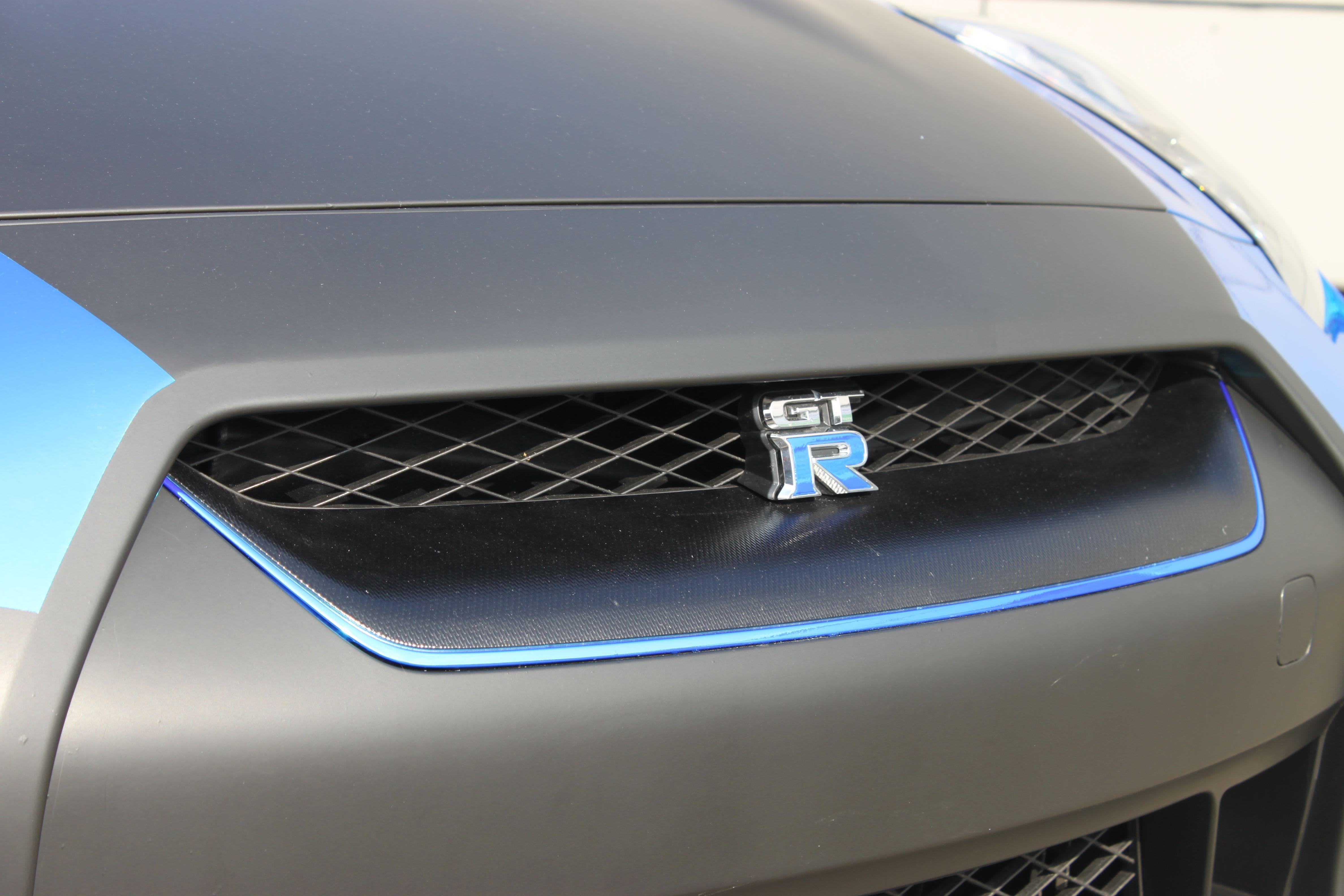 Nissan GT-R met Blue Chrome Wrap, Carwrapping door Wrapmyride.nu Foto-nr:6481, ©2021
