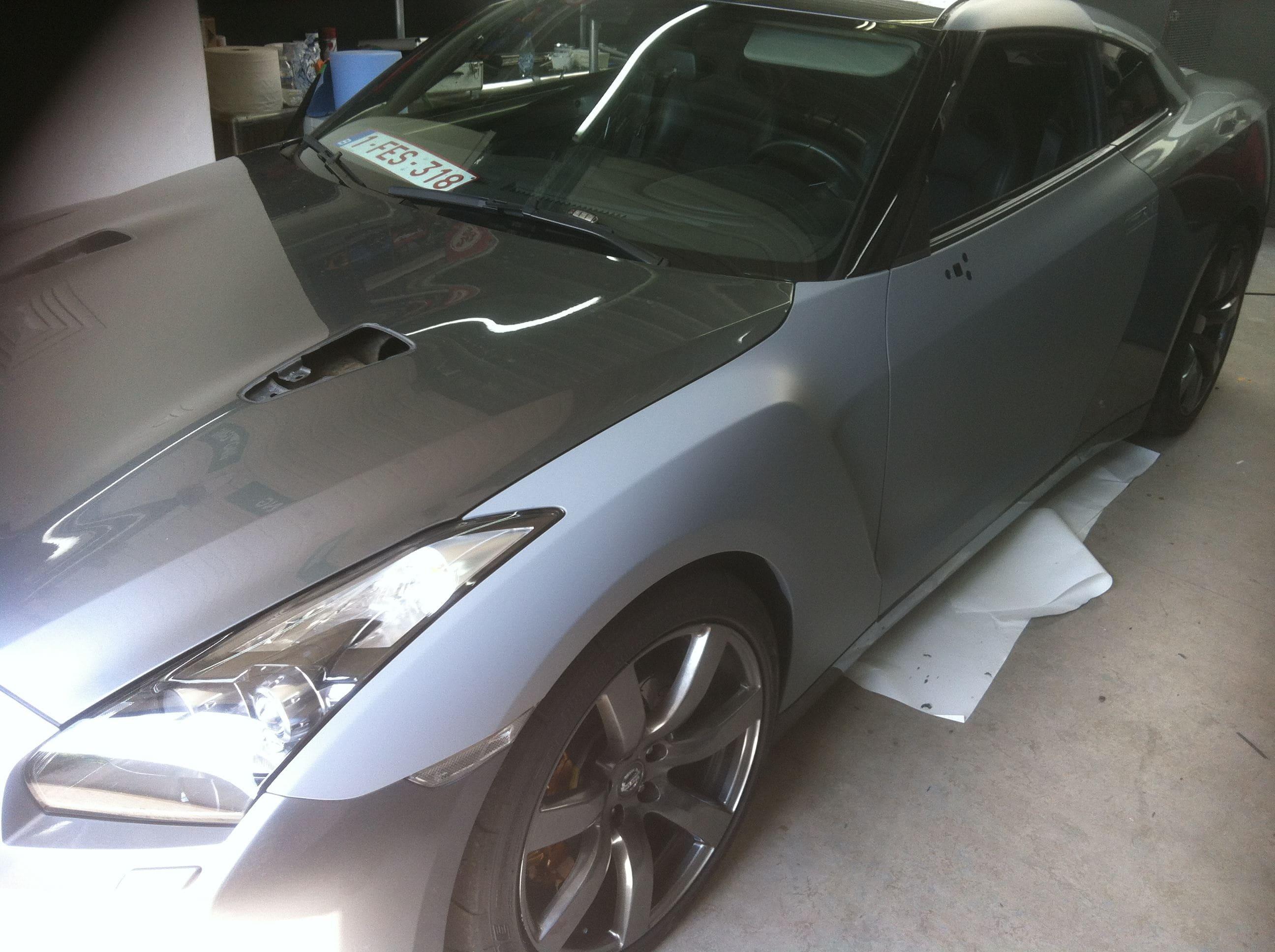 Nissan GT-R met Mat Grijze Wrap, Carwrapping door Wrapmyride.nu Foto-nr:6545, ©2021