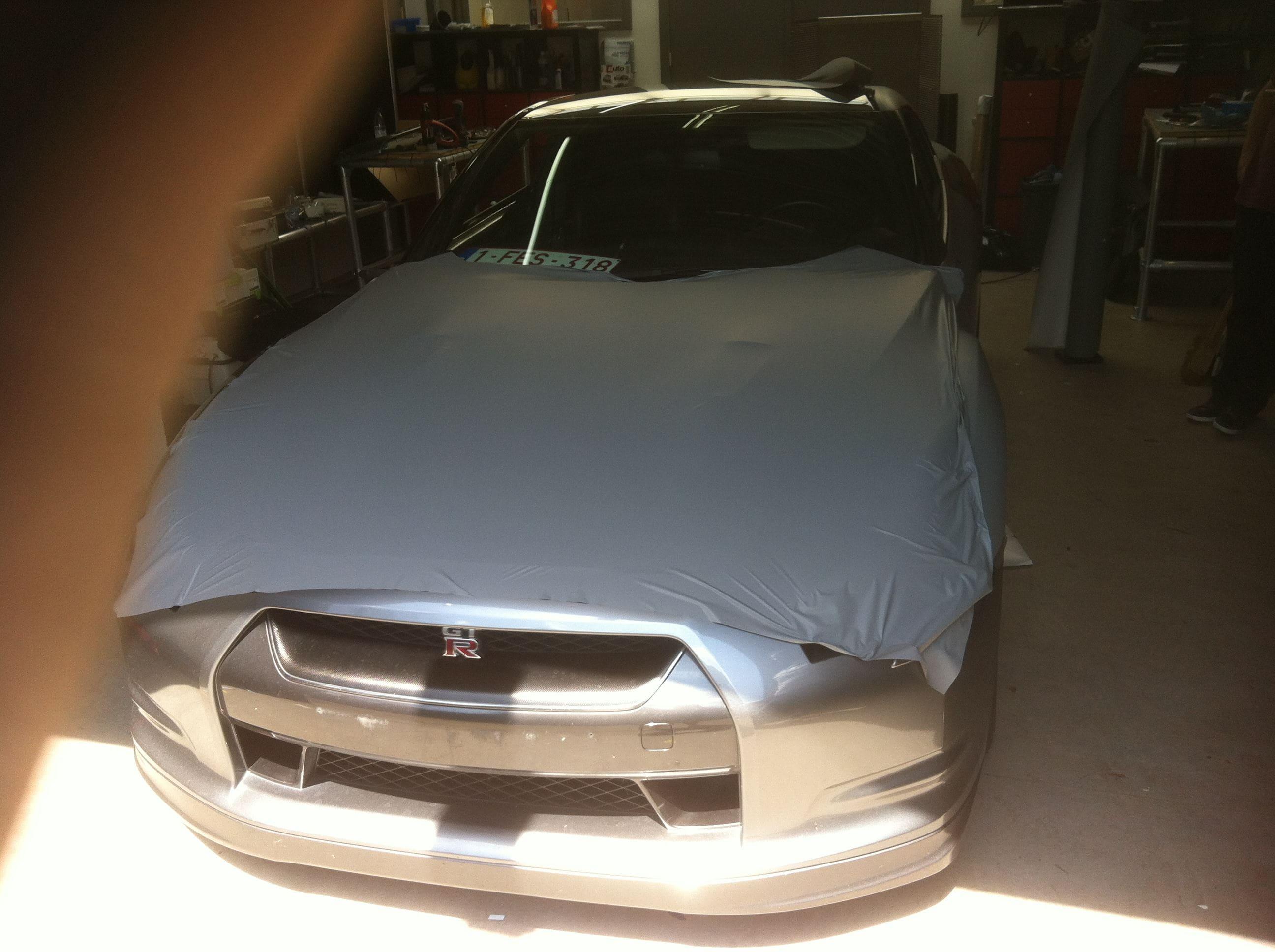 Nissan GT-R met Mat Grijze Wrap, Carwrapping door Wrapmyride.nu Foto-nr:6547, ©2020