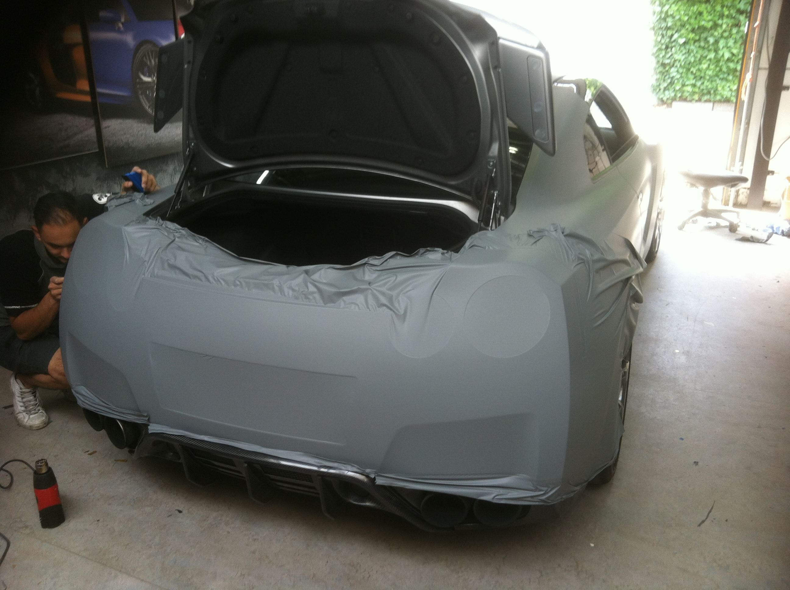 Nissan GT-R met Mat Grijze Wrap, Carwrapping door Wrapmyride.nu Foto-nr:6548, ©2020