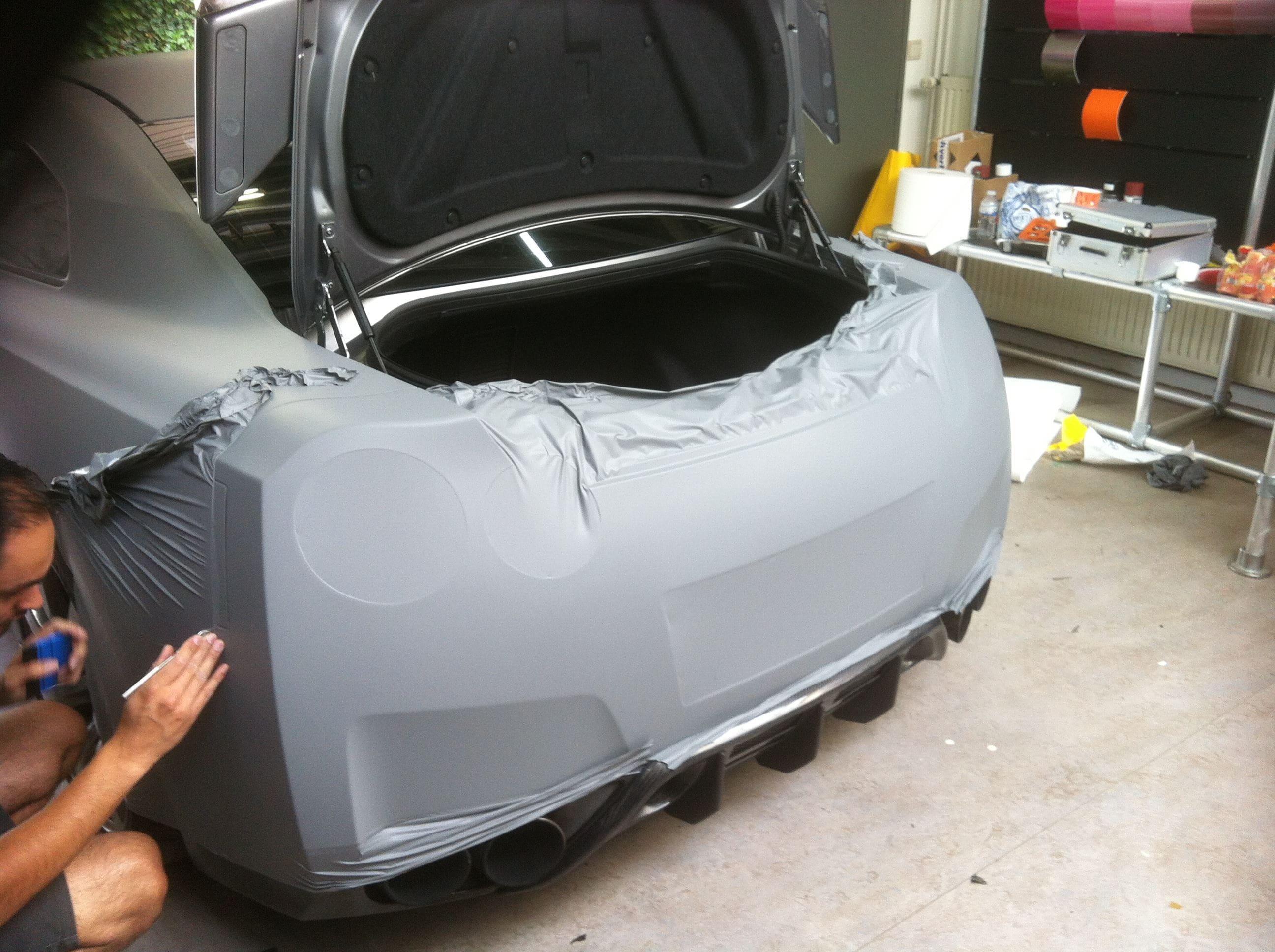 Nissan GT-R met Mat Grijze Wrap, Carwrapping door Wrapmyride.nu Foto-nr:6549, ©2020
