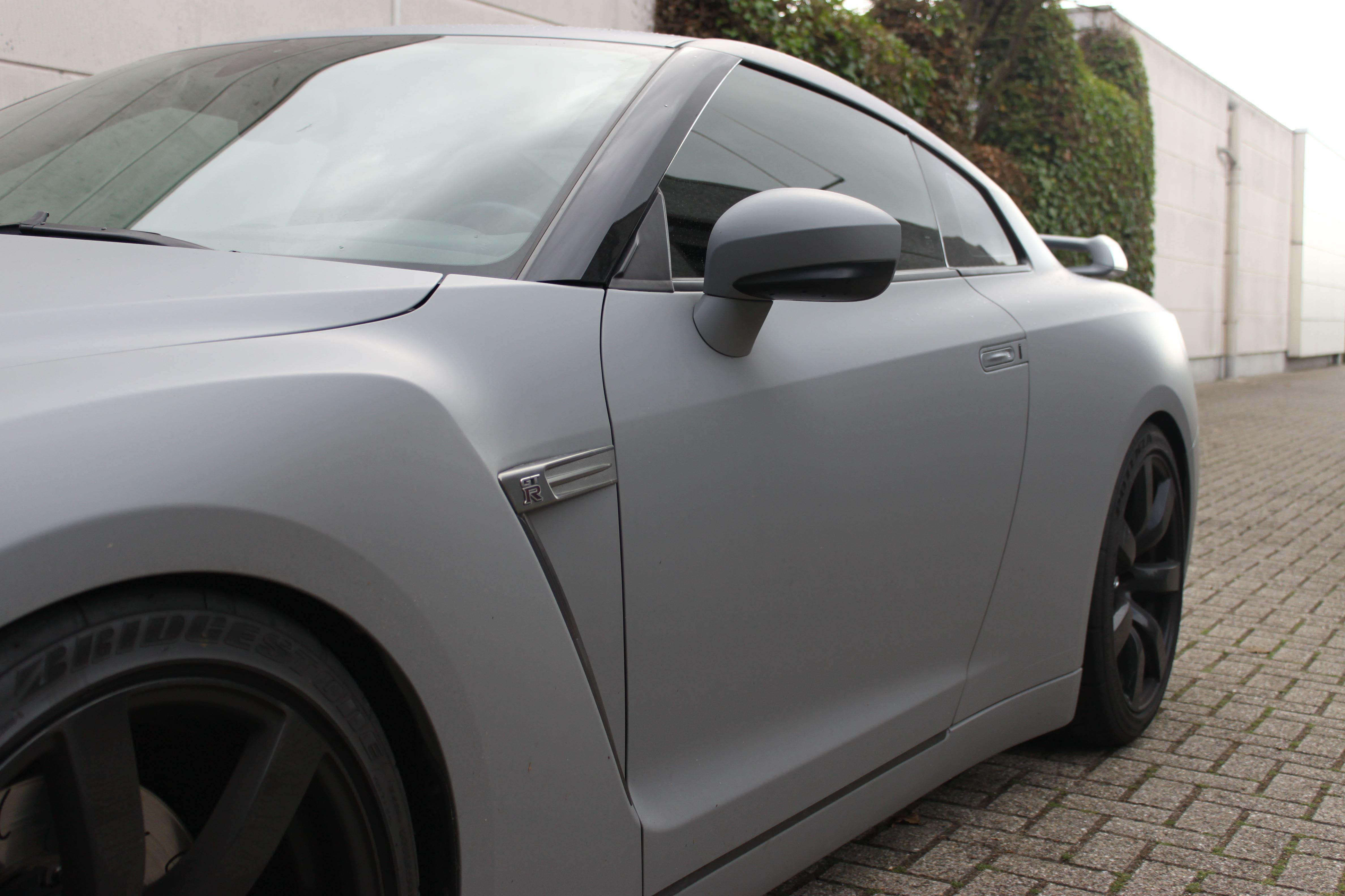 Nissan GT-R met Mat Grijze Wrap, Carwrapping door Wrapmyride.nu Foto-nr:6563, ©2021