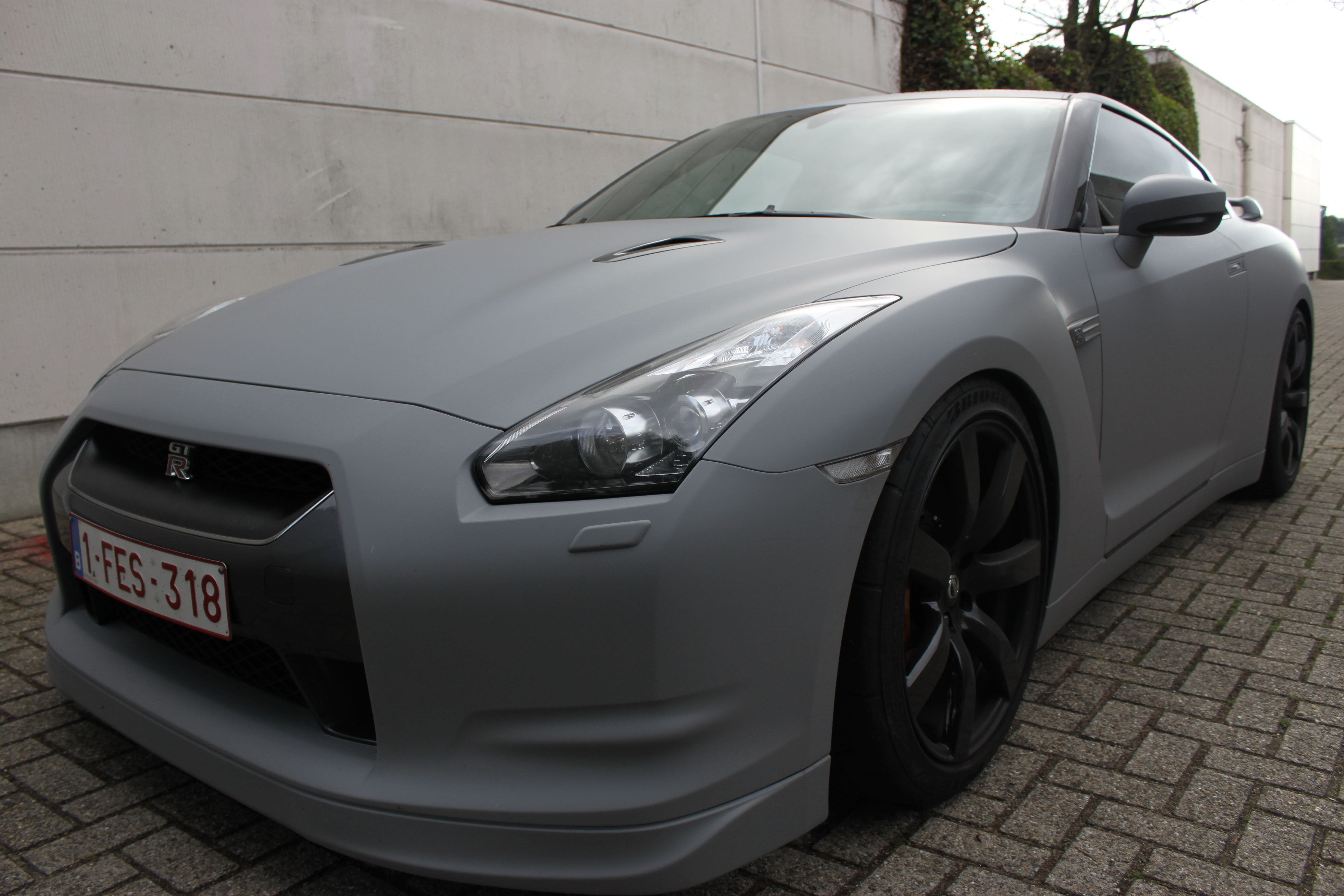 Nissan GT-R met Mat Grijze Wrap, Carwrapping door Wrapmyride.nu Foto-nr:6564, ©2020