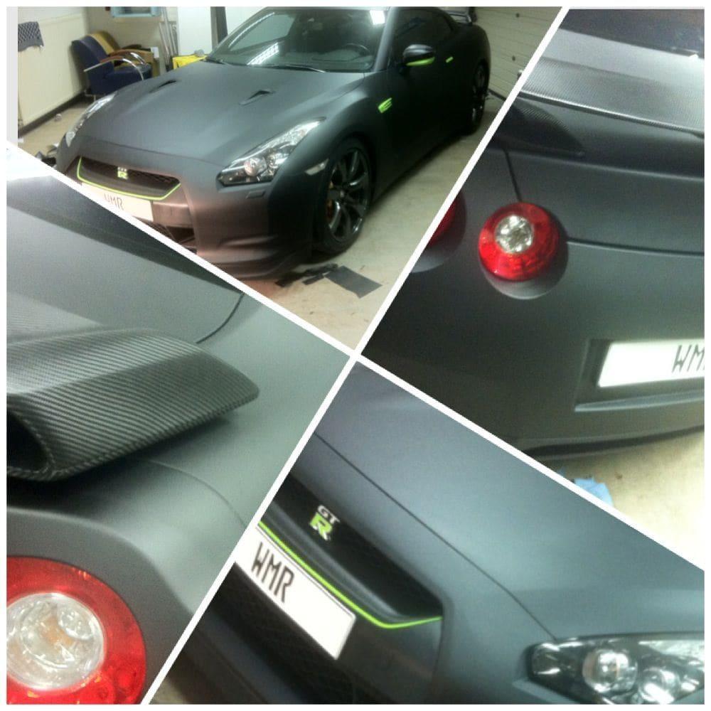Nissan GT-R met Mat Zwarte Wrap, Carwrapping door Wrapmyride.nu Foto-nr:6588, ©2021
