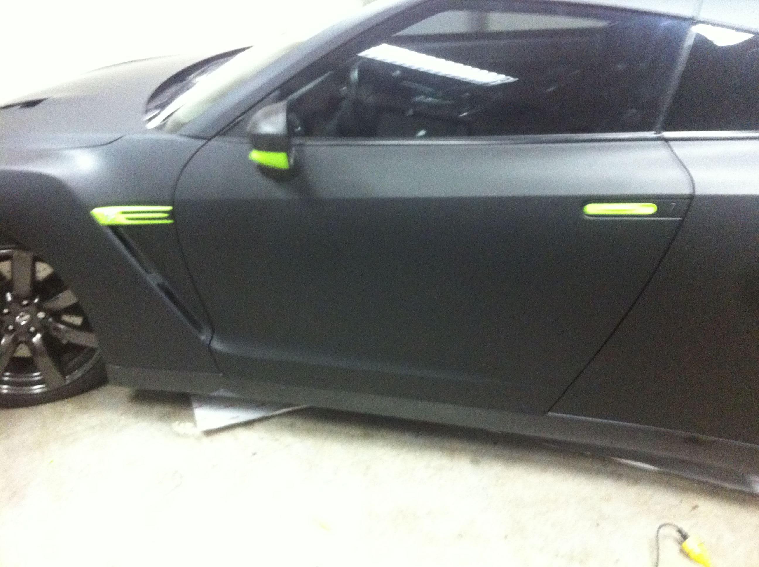 Nissan GT-R met Mat Zwarte Wrap, Carwrapping door Wrapmyride.nu Foto-nr:6590, ©2021