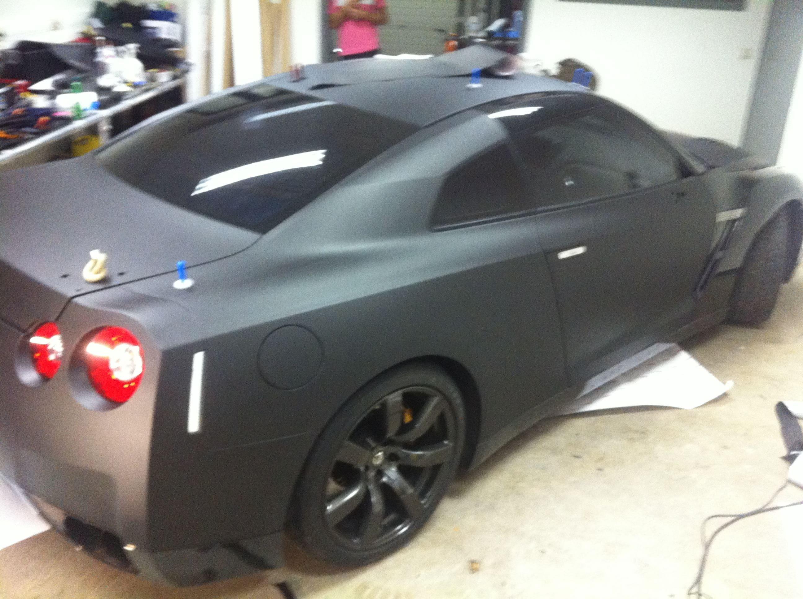 Nissan GT-R met Mat Zwarte Wrap, Carwrapping door Wrapmyride.nu Foto-nr:6592, ©2021