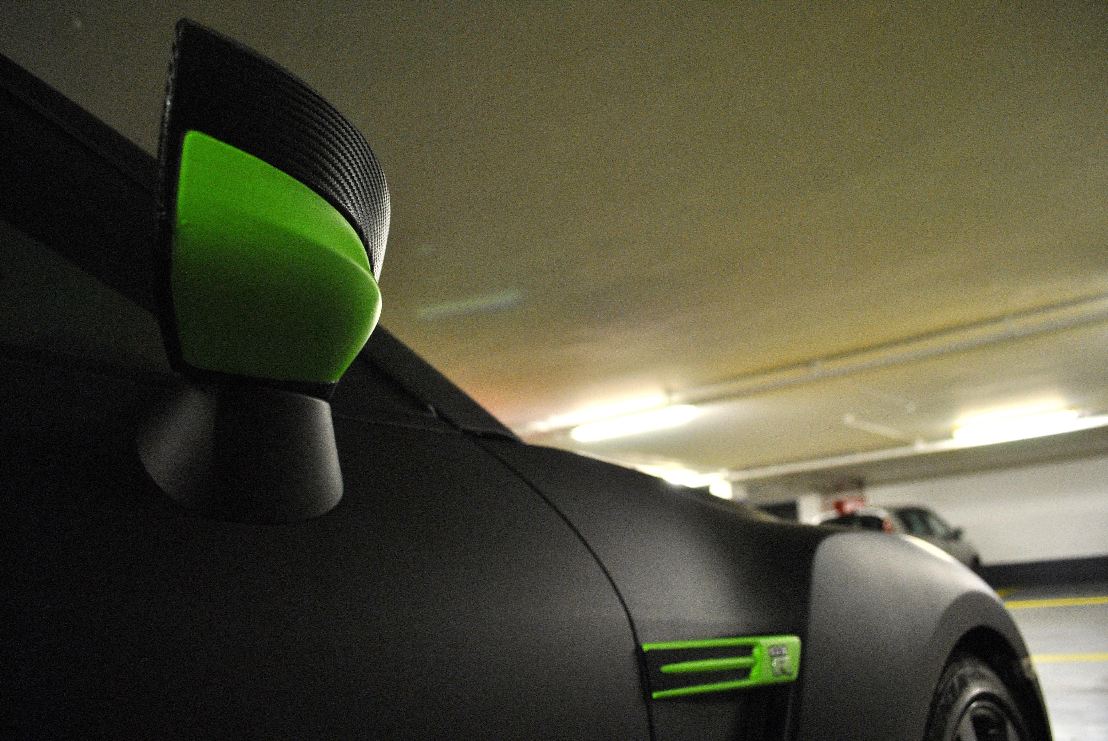 Nissan GT-R met Mat Zwarte Wrap, Carwrapping door Wrapmyride.nu Foto-nr:6602, ©2021