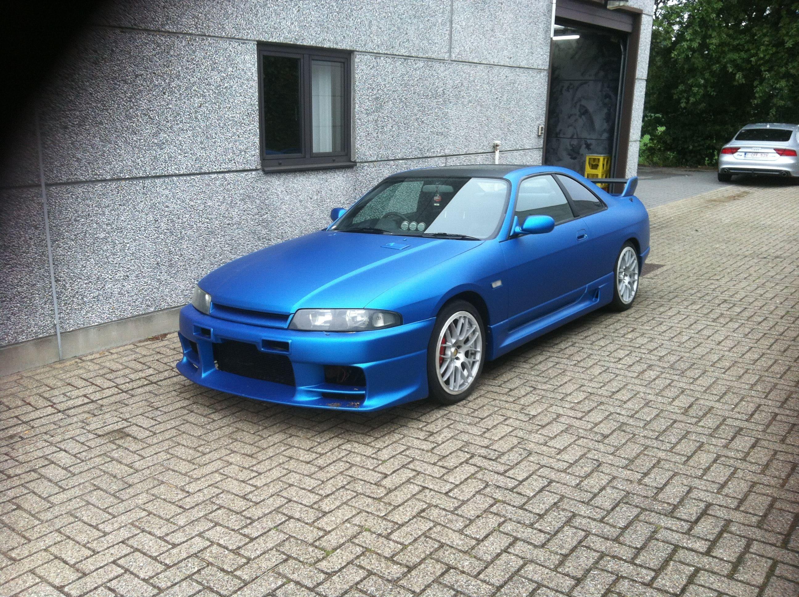 Nissan Skyline met Mat Blauwe Wrap, Carwrapping door Wrapmyride.nu Foto-nr:6605, ©2020