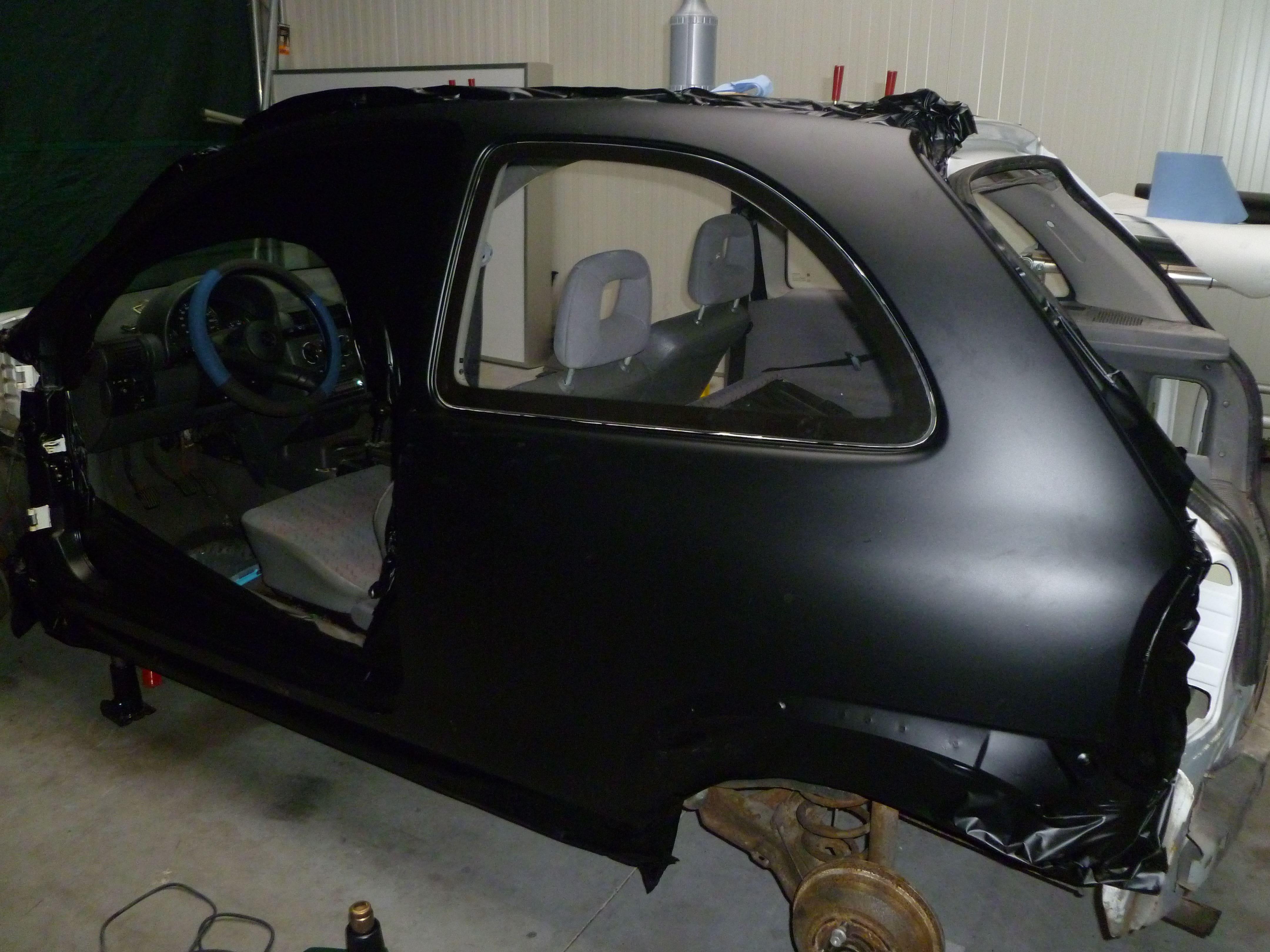 Opel Corsa B met Zwart Paarse Striping, Carwrapping door Wrapmyride.nu Foto-nr:6622, ©2020