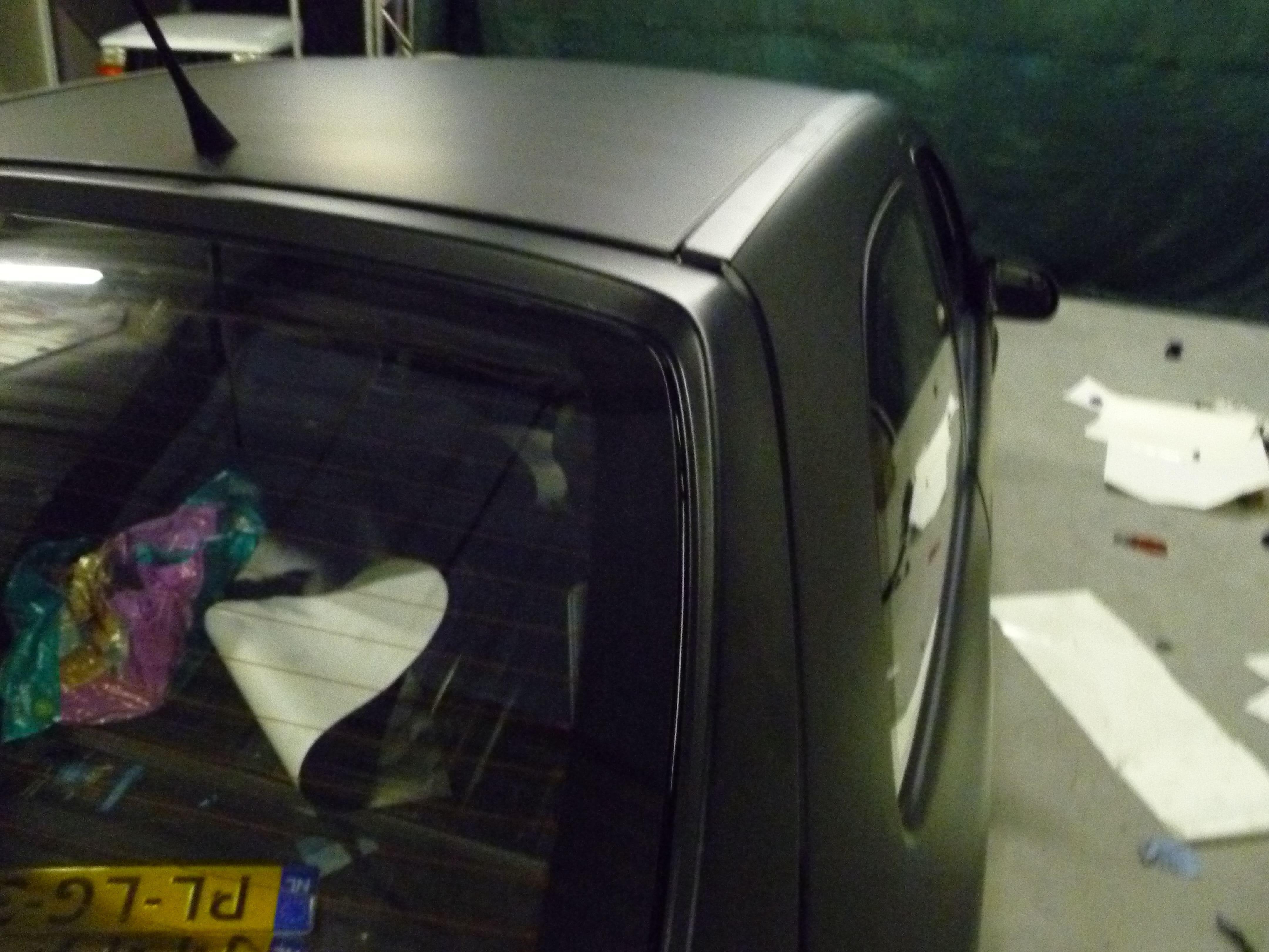 Opel Corsa B met Zwart Paarse Striping, Carwrapping door Wrapmyride.nu Foto-nr:6642, ©2021