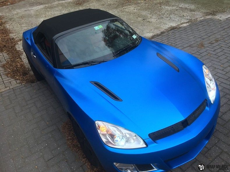 Opel GT speedster satin perfect bleu, Carwrapping door Wrapmyride.nu Foto-nr:12623, ©2020