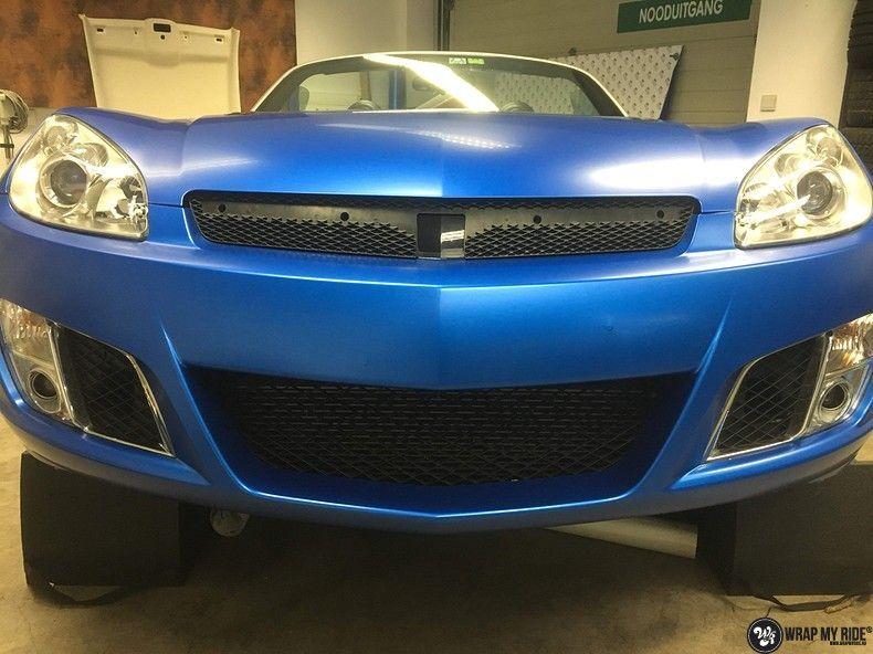Opel GT speedster satin perfect bleu, Carwrapping door Wrapmyride.nu Foto-nr:12641, ©2020