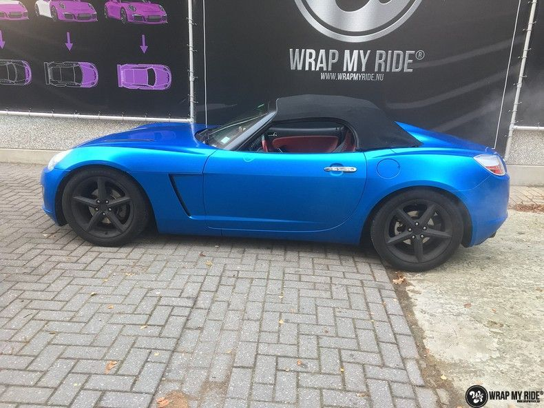 Opel GT speedster satin perfect bleu, Carwrapping door Wrapmyride.nu Foto-nr:12636, ©2021