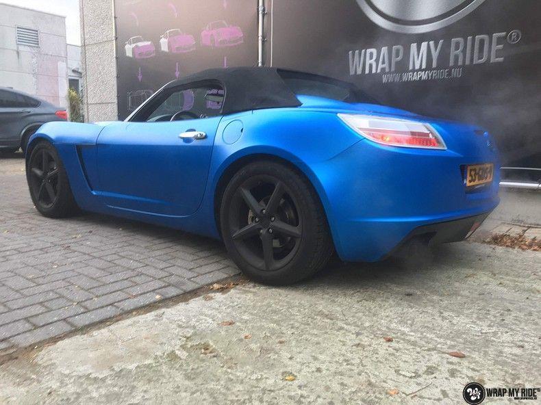 Opel GT speedster satin perfect bleu, Carwrapping door Wrapmyride.nu Foto-nr:12632, ©2020