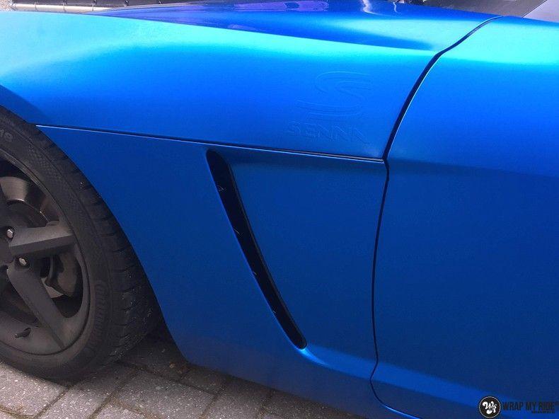 Opel GT speedster satin perfect bleu, Carwrapping door Wrapmyride.nu Foto-nr:12629, ©2021