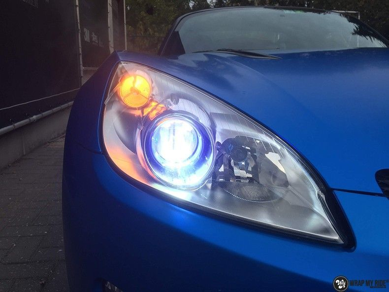 Opel GT speedster satin perfect bleu, Carwrapping door Wrapmyride.nu Foto-nr:12625, ©2021