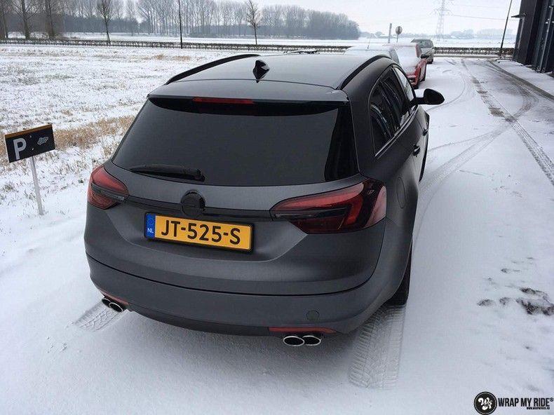 opel insignia matte dark grey, Carwrapping door Wrapmyride.nu Foto-nr:12580, ©2019