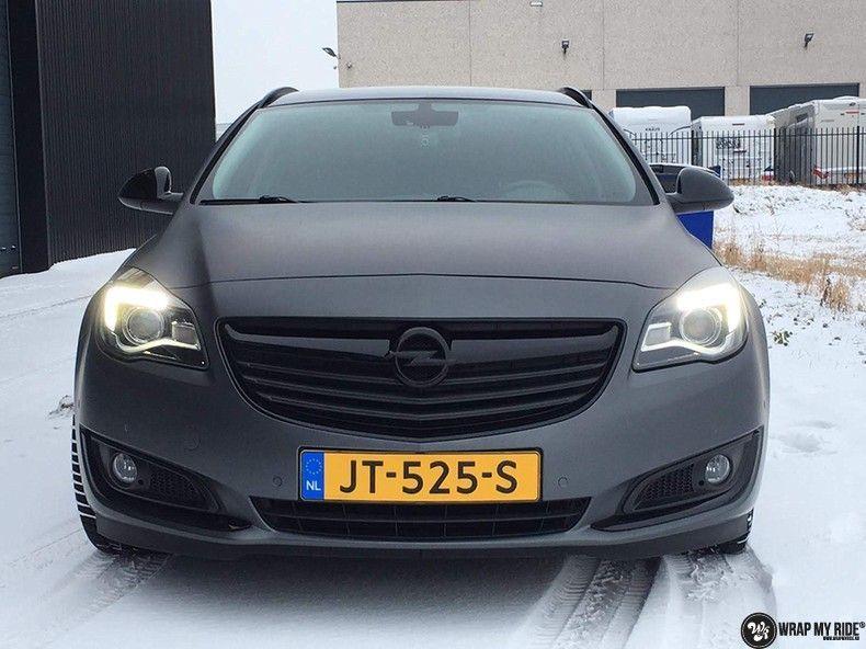 opel insignia matte dark grey, Carwrapping door Wrapmyride.nu Foto-nr:12584, ©2019